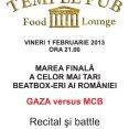Temple Pub - GAZA versus MCB