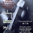 Afiş CONCERT CARITABIL - Umbra, Grind25, Sidewars